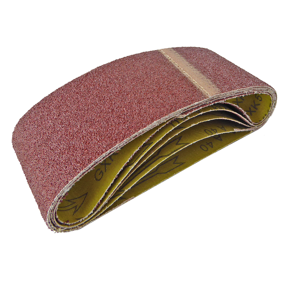 Cloth Sanding Belts 75 x 457mm 80 Grit Pack of 5