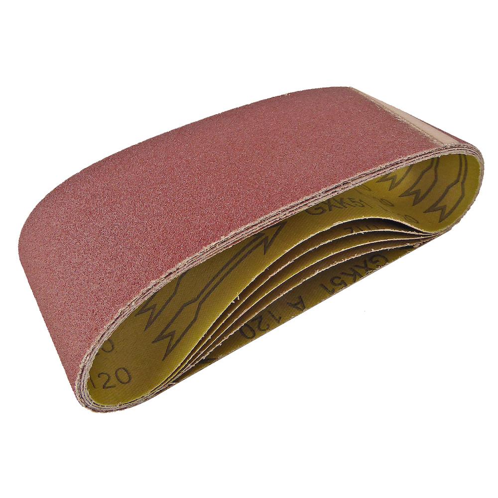 NEW Cloth Sanding Belt 75 x 457mm 60 Grit 5 Pack
