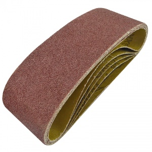 60mm x 400mm Sanding Belt 80 Grit Pack of 5