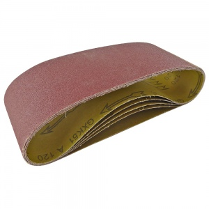 100mm x 610mm Sanding Belt 120 Grit Pack of 5