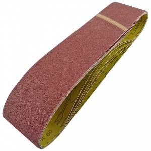 100mm x 915mm Sanding Belt 60 Grit Pack of 5