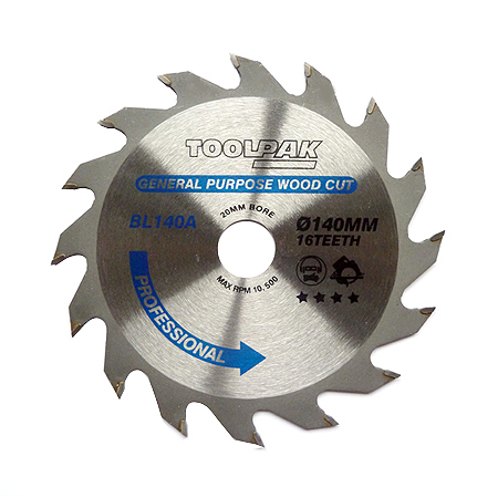 140mm x 20mm x 16T Professional TCT Saw Blade