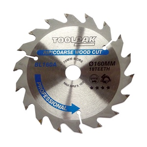 160mm x 20mm x 18T Professional TCT Saw Blade