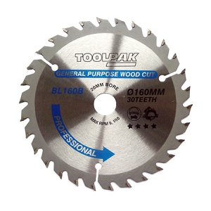 160mm x 20mm x 30T Professional TCT Saw Blade