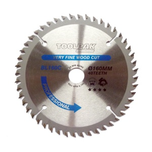 160mm x 20mm x 48T Professional TCT Saw Blade