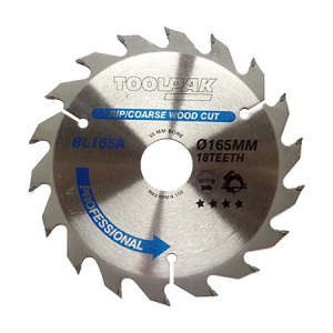 165mm x 30mm x 18T Professional TCT Saw Blade