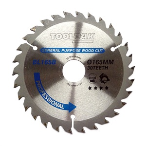 165mm x 30mm x 30T Professional TCT Saw Blade