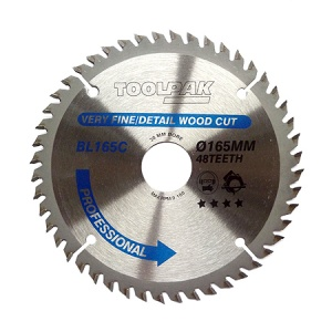 165mm x 30mm x 48T Professional TCT Saw Blade