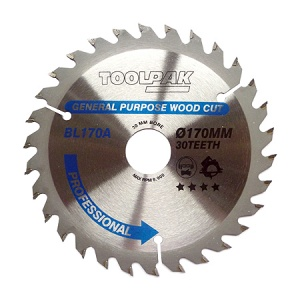 170mm x 30mm x 30T Professional TCT Saw Blade