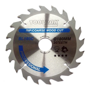 180mm x 30mm x 20T Professional TCT Saw Blade