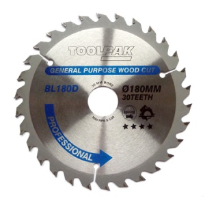 180mm x 30mm x 30T Professional TCT Saw Blade