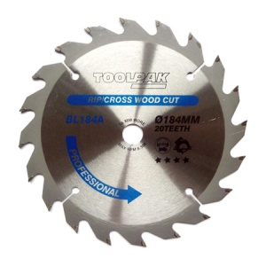 184mm x 16mm x 20T Professional TCT Saw Blade