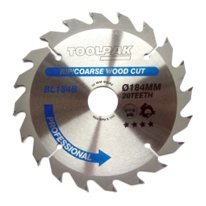 184mm x 30mm x 20T Professional TCT Saw Blade