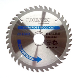 184mm x 30mm x 40T Professional TCT Saw Blade