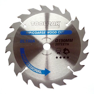 190mm x 16mm x 20T Professional TCT Saw Blade