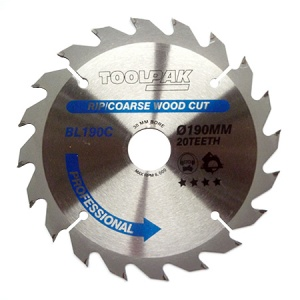 190mm x 30mm x 20T Professional TCT Saw Blade