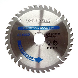 190mm x 30mm x 40T Professional TCT Saw Blade