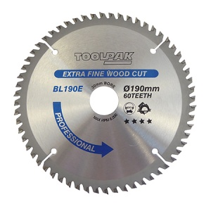190mm x 30mm x 60T Professional TCT Saw Blade