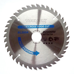 200mm x 30mm x 40T Professional TCT Saw Blade
