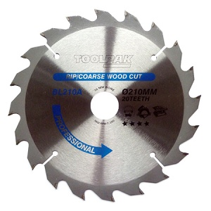 210mm x 30mm x 20T Professional TCT Saw Blade