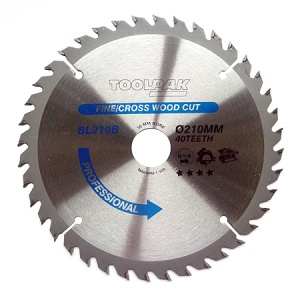 210mm x 30mm x 40T Professional TCT Saw Blade