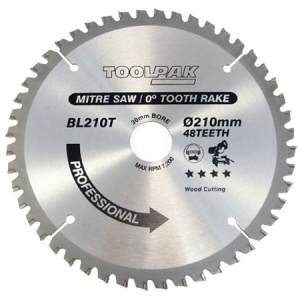210mm x 30mm x 48T Mitre TCT Saw Blade