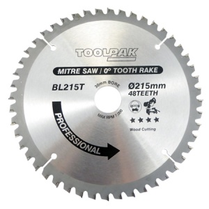 215mm x 30mm x 48T Mitre TCT Saw Blade