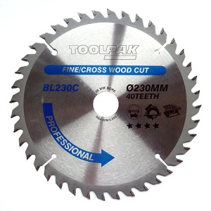 230mm x 30mm x 40T Professional TCT Saw Blade
