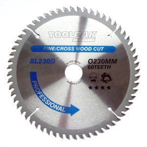 230mm x 30mm x 60T Professional TCT Saw Blade