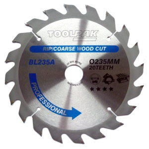 235mm x 30mm x 20T Professional TCT Saw Blade