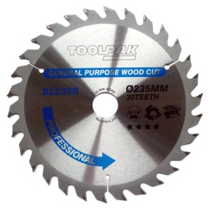 235mm x 30mm x 30T Professional TCT Saw Blade
