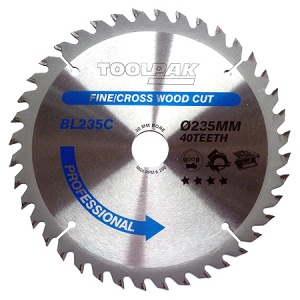 235mm x 30mm x 40T Professional TCT Saw Blade