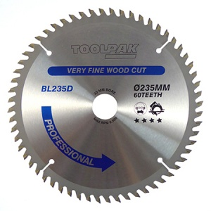 235mm x 30mm x 60T Professional TCT Saw Blade