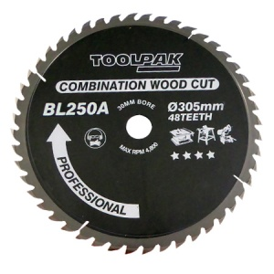 250mm x 30mm x 24T TCT Table / Mitre Saw Blade