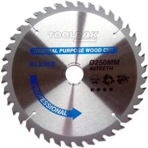 250mm x 30mm x 40T Professional TCT Saw Blade
