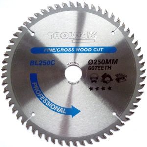250mm x 30mm x 60T Professional TCT Saw Blade