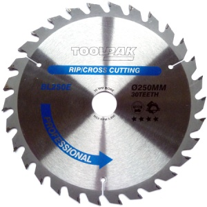 250mm x 30mm x 30T Professional TCT Saw Blade
