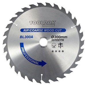 300mm x 30mm x 30T TCT Table Saw Blade