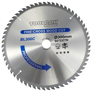 300mm x 30mm x 60T TCT Table Saw Blade