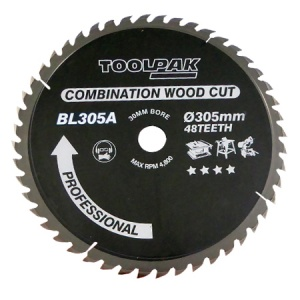 305mm x 30mm x 24T TCT Table Saw Blade