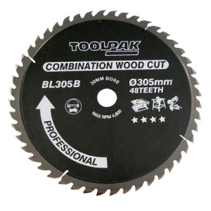 305mm x 30mm x 48T TCT Table Saw Blade