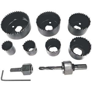 10 Piece Carbon Steel Holesaw Set