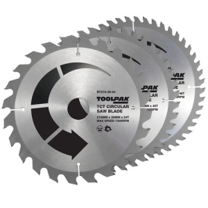 210mm x 30mm TCT Circular Saw Blades Pack of 3