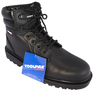 Black Safety Boots - Size 8