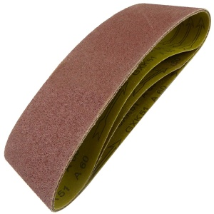 100mm x 610mm Sanding Belt 60 Grit Pack of 3