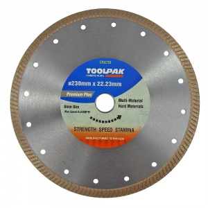 230mm x 22.23mm Hard Material Diamond Blade 8mm Rim