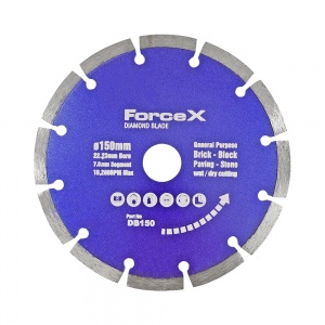 150mm x 22.23mm Diamond Blade 7mm Segment