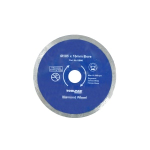 105mm x 16mm Tile Diamond Blade 5mm Rim