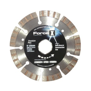 125mm x 22.23mm Multi-Material Diamond Blade 10mm Turbo Segment