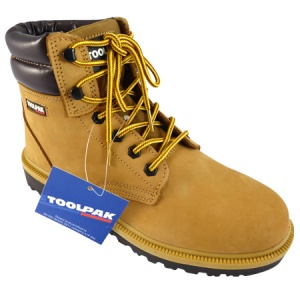 Honey Yellow Safety Boots - Size 9